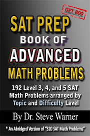 SAT Prep Book Of Advanced Math Problems